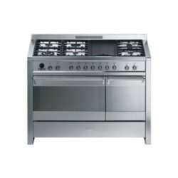 Smeg Cooker Gas Electric Opera Double Cavity Range 120cm