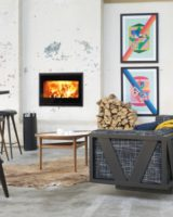 Scan Fireplace 1002 black glass