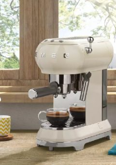 Smeg Retro Espresso Coffee Machine cream