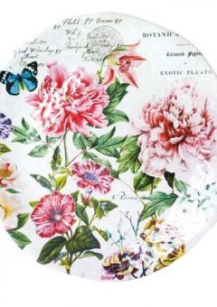 Michel Design Works Peony Large Round Platter