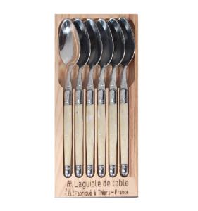 Laguiole Set of 6 Table Spoons Ivory