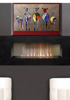 Infinity Slimline 1400 Flue-less gas Fire with optional granite frame