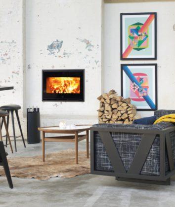 Scan Fireplace 1002 black glass
