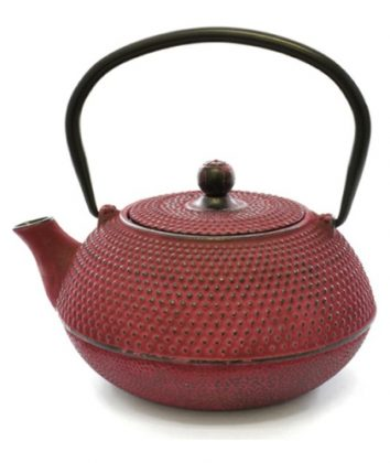 cast iron teapot cerise Pink