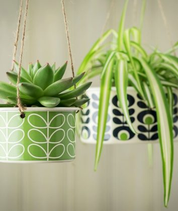 Orla Kiely hanging plant pots