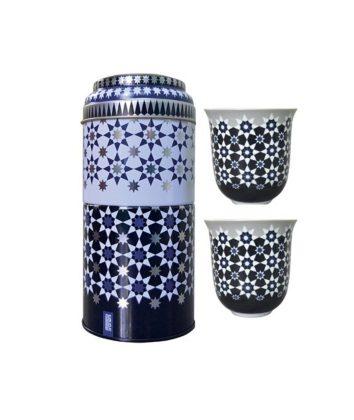 Tin Box With 2 Coffee CupsKaokab