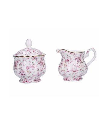 Katie Alice Ditsy Floral sugar bowl and creamer set