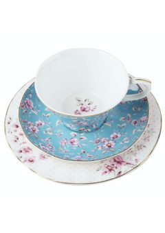 Katie Alice Floral Teal Afternoon Tea Set