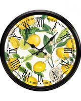 Michel Design Lemon Basil Wall Clock