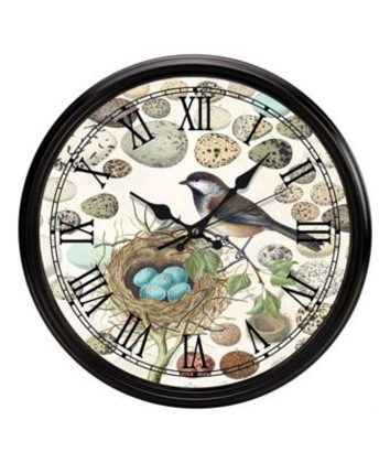 Michel Design Nset and Eggs Wall Clock