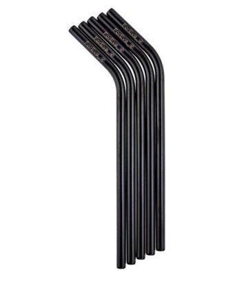 Foreva Straw Stainless Steel Black