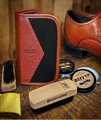 Gentlemens hardware shoe polish kit
