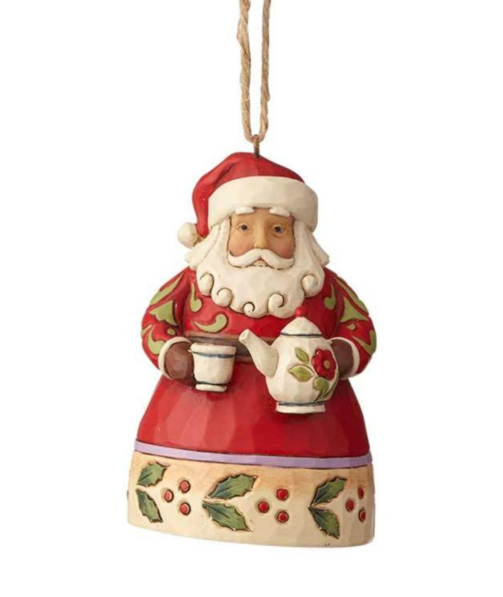 Jim Shore Santa with teapot