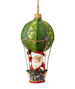 Jim Shore Woodland Santa in hot air balloon