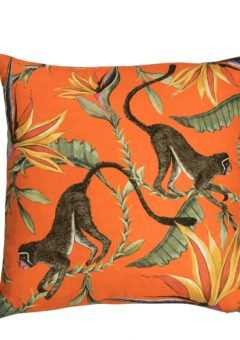 Ardmore scatter cushion Monkey Paradise Flame