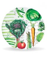 Michel Design Vegetable Kingdom Large Round Platter