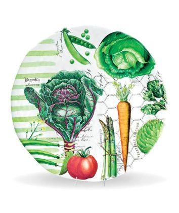 Michel Design Vegetable Kingdom Large Round Platter