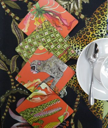 Ardmore Coasters Flame Lily Crocodile