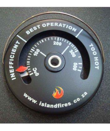 Flue themometer
