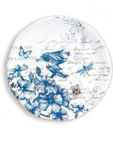 Michel Design Indigo Cotton Large Round Platter
