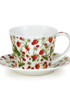 Dunoon Islay cup and saucer DoveDale strawberry
