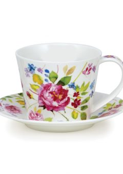 Dunoon Islay cup and saucer Wild Garden Rose