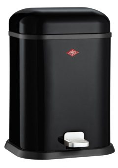 Wesco Waste Bin Single-Boy Black 13LT