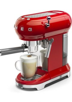 Smeg Retro Espresso Coffee Machine Red