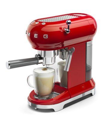 Smeg Retro Espresso Coffee Machine Red