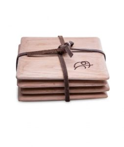 Oak Coasters set