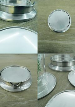Pewter Coasters set of 4 Classic