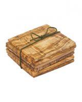Redecker Olive wood coasters