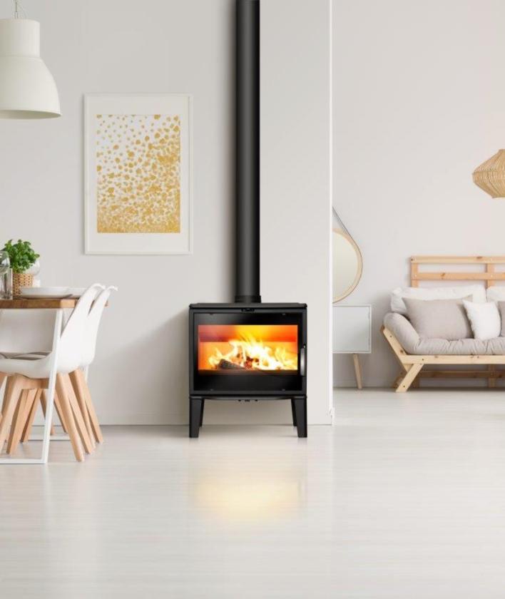 Lacunza Freestanding Biarritz Fireplace Metelerkamps