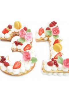 Scrapcooking Number Cake templates