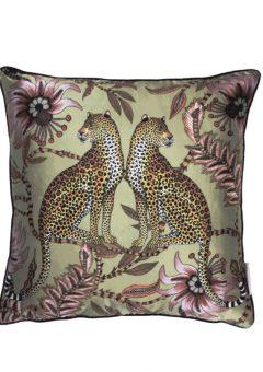 Ardmore scatter cushion lovebird leopard delta