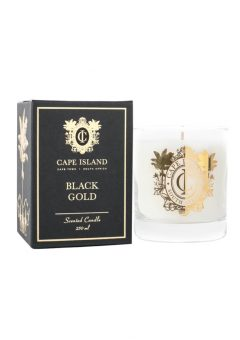 Cape Island Scented candle black gold