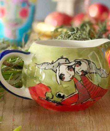 Art d olivia Milk jar