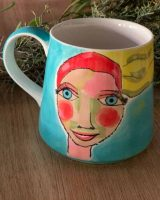 Art d olivia coffee mug artist girl