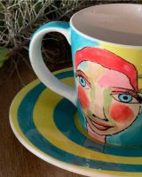 Art d Olivia Teacup and saucer - Artist Lady
