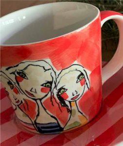 Art d olivia tea cup and saucer treasure friendships