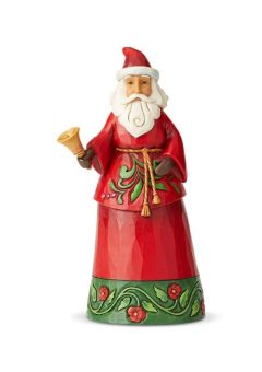 Jim Shore Heartwood Creek Santa Holding Bell