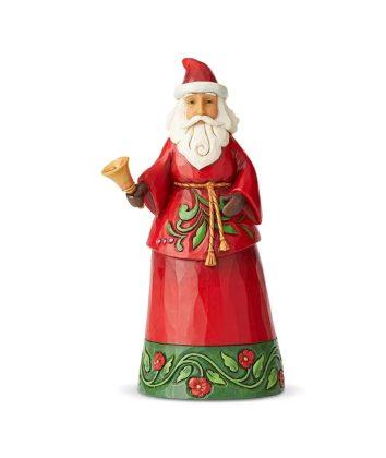 Jim Shore Heartwood Creek Santa Holding Bell