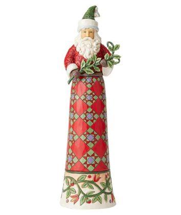 Jim Shore Heartwood Creek Tall Santa with Branch