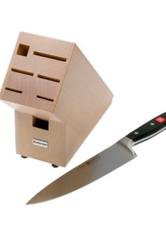 Wusthof Classic 2 In 1 Knife and Block beech wood