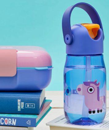 Zoku Kids Flip straw Bottle purple